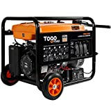 TogoPower Portable Gas Generator with Electric Start - 8000 Peak Watts CARB Compliant Backup Home Use RV Ready Camping Generator with Rain Cover