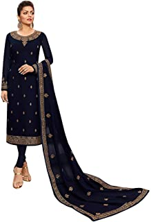 stylishfashion Indian/Pakistani Designer Party/Ethnic wear Georgette Straight Ghagra Style Salwar for Womens