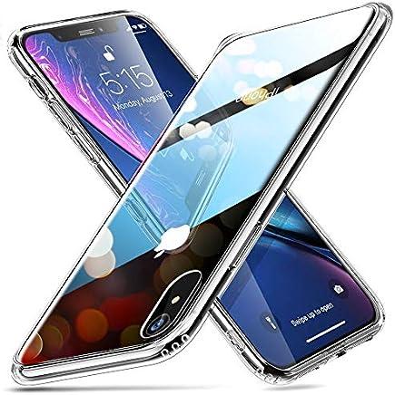 """ESR Funda para iPhone XR Cristal Templado [Imita la Parte Posterior del Vidrio del iPhone XR] [Resistente a los Arañazos] + Borde de Silicona Suave para Apple iPhone XR de 6.1""""-Transparente"""