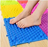 YOBEYI Foot Massage Mat Acupressure Mat Foot Reflexology Walking Toe Plate Massage Pad Bathroom Mat Yoga Mat Anti-Slip Mat Outdoor Game 2 PCS (Blue)
