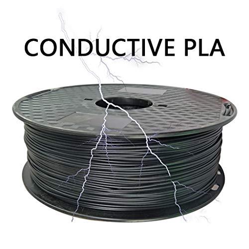 Hello PLA Filamento 1,75 Millimetri, PLA Conduttivo Filamento 1kg (2.2lb), for La Stampante 3D, Nero