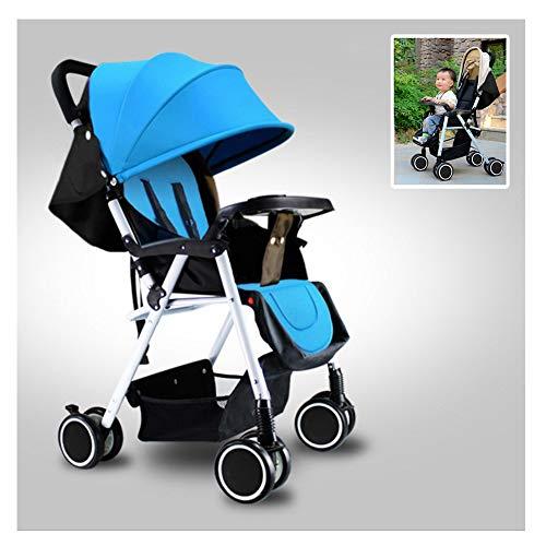 WGXQY Pushchair 3 in 1 reissysteem, lichtgewicht, inklapbaar, liggend, lichtgewicht kinderwagen met vier wielen voor vliegtuigen, met regenhoes, met een gewicht van 25 kg vanaf de geboorte tot 3 jaar oud.