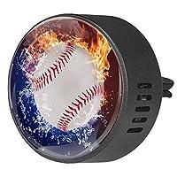 2pcsアロマセラピーディフューザーカーエッセンシャルオイルディフューザーベントクリップスポーツ野球の火と水
