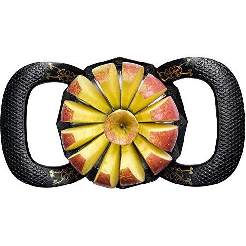 Oyria Upgraded Version 12-Blade Extra Large Apple Corer Peeler,Stainless Steel Ultra-Sharp Fruit Corer & Slicer,Apple Cutter,Wedger,Decorer Tool,Divider for Up to 4 Inches Apples