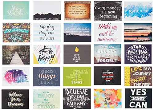Inspirational & Motivational Mini Color Note Cards flat 2.5 x 3.5 set of 50