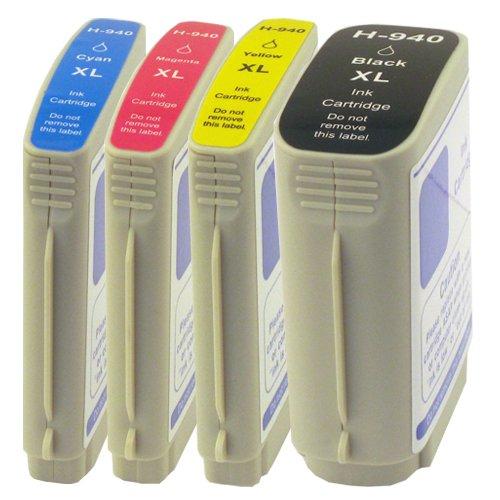 PlatinumSerie® 4 Cartuchos de tinta compatible con HP 940XL OfficeJet Pro 8000 Wireless 8000 Enterprise 8000 8500 8500 Premier 8500 A 8500 A Plus 8500 A Premium 8500 Wireless