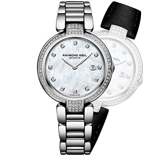 Raymond Weil Damen-Armbanduhr 32mm Armband Edelstahl Quarz 1600-SCS-97081