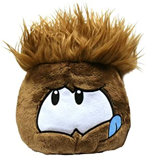 Disney Club Penguin 8 Inch JUMBO Puffle Plush Brown Includes Coin with Code!