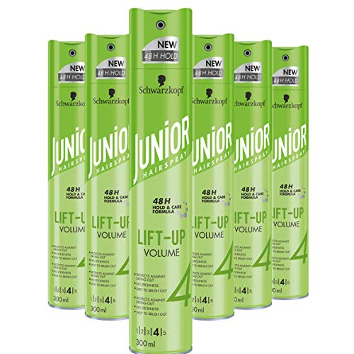 Schwarzkopf Junior Hairspray Lift-Up Volume Haarspray 300ml, 6 stuks