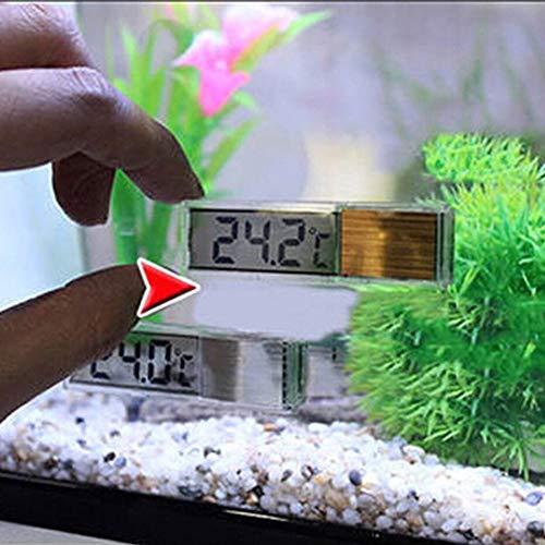 Pandao Aquarium Thermometer, Aquarium Thermometer Meter LCD 3D Digitale elektronische Temperaturmessung Aquarium Thermometer für tropisches Kaltwasser Süßwasser Marine Aquarium
