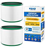 VEVA Premium HEPA Replacement Filter 2 Pack Compatible with All Dyson Pure Cool Link DP01, DP02 and Dyson Pure Hot + Cool Link HP01, HP02, Part # 968125-03# 305214-01# 305214-01