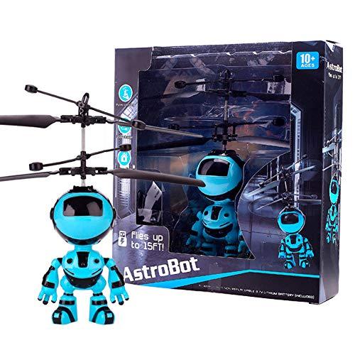 ZJchao Fliegender Roboter Astronaut Superheld Space Robot Hubschrauber, Induktionsroboter Flugzeug schwimmendes Spielzeug, Lade Hand Induktionsroboter Kinderspielzeug Weihnachten