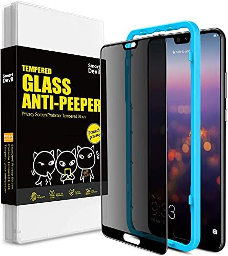 SmartDevil Anti-Spy Protector Pantalla de Huawei P20 Pro,Cristal Templado Huawei P20 Pro,Vidrio Templado con [Fácil de Instalar] [Anti-peek] [Garantía de por Vida] para Huawei P20 Pro