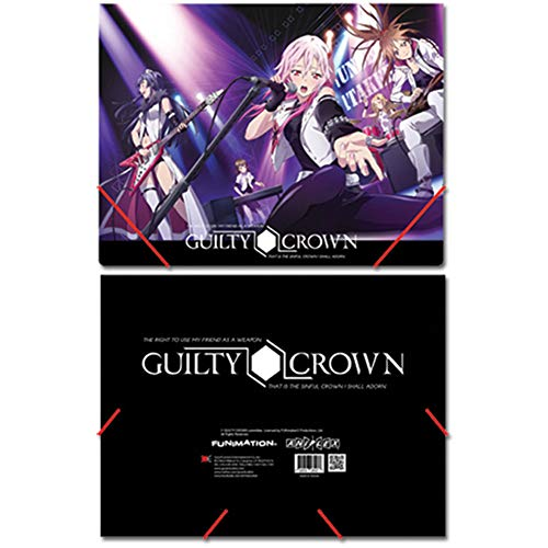Guilty Crown Group Elastic Band Document Folder