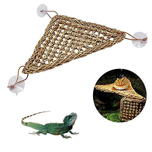 miju Seaweed Eidechse Mesh Hängematte Schaukel Spielzeug Haustier Lounger Reptil Hängematte Reptilien-Zubehör für kleine Tiere Anolen, Bartagen, Geckos, Iguanas, Einsiedler, Krabben Designer
