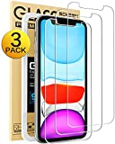 Mkeke Compatible with iPhone XR Screen Protector, IPhone 11 Screen protector,Tempered Glass Film for Apple iPhone XR & iPhone 11, 3-Pack Clear