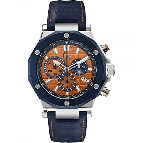GUESS Herren Chronograph Quarz Uhr mit Leder Armband X72031G7S