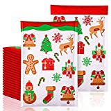 Christmas Mailing Envelopes, Christmas Padded Envelopes, Bubble Mailers Christmas, MWAOWM 20pcs 8.5x12 Inches Christmas Poly Bubble Mailers Padded Envelopes with Reindeer, Christmas tree, Snowflake