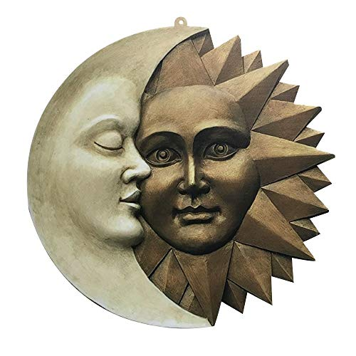 Design Celestial Sun and Moon Wall Sculpture Icons of Astronomy Icons Decoration Outdoor Wall Decor Mexican Decor Outdoor Wall Art Mexican Wall Art Sun Wall Decor Patio Wall Decor Yard Art
