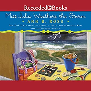 Miss Julia Weathers the Storm audiobook cover art