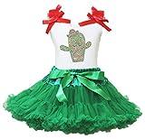 Cinco de Mayo Vestido Cactus Blanco Camiseta de algodón de Kelly Verde Falda niña Disfraz 1–8Y