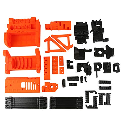 Dasing 3D Printer PLA Required PLA Plastic Parts Set Printed Parts Kit for Prusa I3 MK2.5S MK3S MMU2S Multi Material 2S Upgrade Kit