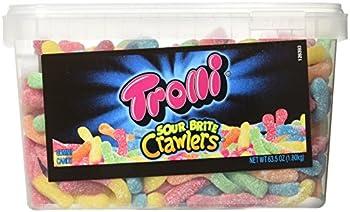 Trolli Sour Brite Crawlers Gummy Worms 3.96 Pound Tub
