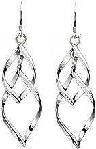 Cdet Pendientes Plata de Cobre Plateado Hojas de joyería de Moda el oído Pendientes Largos Joyas para Mujer