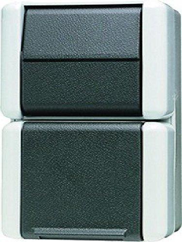 Jung 876 W Kombination 876W Schalter-Steckdose, Weiß