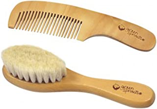 Green Sprouts Baby Wooden Brush and Comb Set, Natural