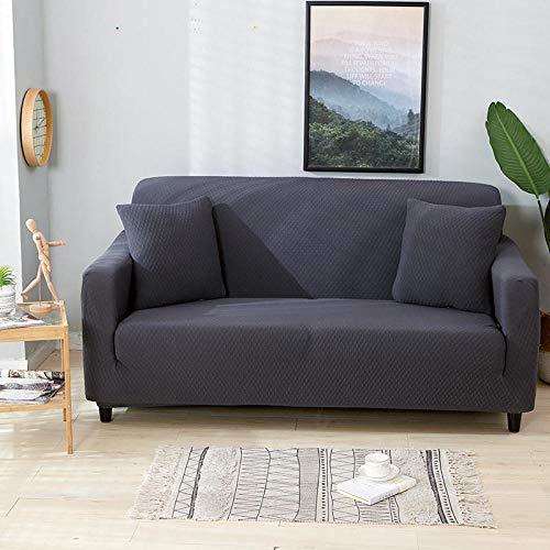 Corner Sofa L Shape Stretch Non-Slip Sofa Cover,Slightly waterproof elastic sofa cover, universal non-slip cushion cover for all seasons, anti-fouling protective cover for furniture-Dark gray_190-230