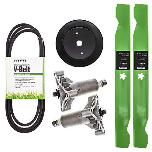 8TEN Blade Spindle Belt Pulley Rebuild Kit for Craftsman 42 inch Deck LT1000 138971 24690 531300766 532129861
