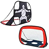 porayhut 2 in 1 Pop Up Kids Soccer Goal,Portable Kids Soccer Net, Easy