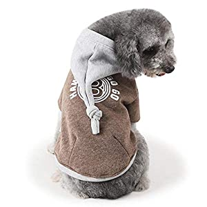 Fathoit Winter Camouflage Hoodie De Chien Sweater Warm Shirt Mantea,VêTements pour Animaux De Compagnie Gilet Hiver Chiot VêTements Chauds Couleurs Vives Manteau