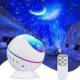 Tobeape LED Sternenhimmel Projektor Lampe, Ozeanwellen Projektor Nachtlicht, Nachthimmel Licht, Romantische Atmosphäre Lampe 360°Drehen Perfekt für Baby Kinder Party, Familientreffen, Auto