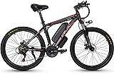 Bicicleta Eléctrica Bicicleta eléctrica para adultos de 26 'Montaña Bicicleta eléctrica Ebike 48V 10 / 15Ah Batería de litio extraíble 350W Motor potente, 27 velocidades y 3 modos de trabajo Batería d