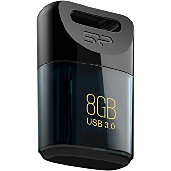 シリコンパワー USBメモリ 8GB USB3.1 / USB3.0 超小型 防水 防塵 耐衝撃 Mac対応 永久保証 Jewel J06 SP008GBUF3J06V1D