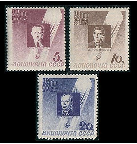 Goldhahn Sowjetunion Nr. 480-482 ungestempelt Ballon Absturz 1934  Briefmarken für Sammler