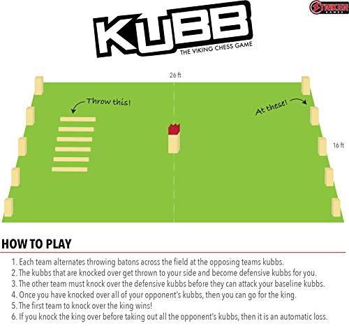Striker Games Kubb Lawn Game - Outdoor Games - Party Games - Strategic Fun