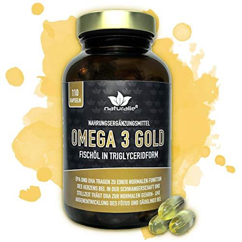 Omega 3 Kapseln in Markenqualität - Extra Starke Dosierung - umfangreich SCHADSTOFFGEPRÜFT mit Laborgutachten (In Glasflasche)