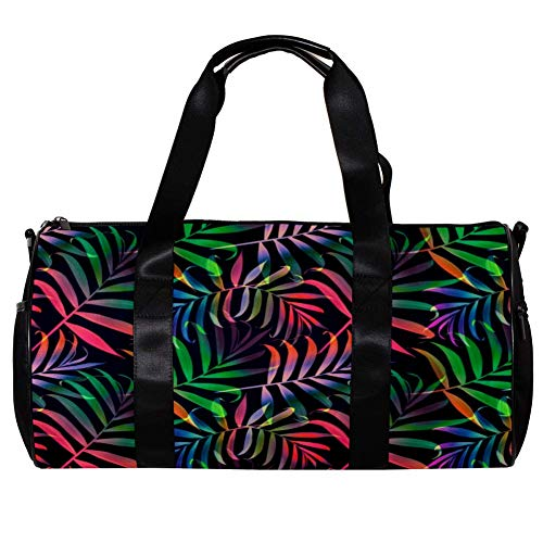 Sports Gym Bag with Shoes Compartment &Wet Pocket Gym Duffel Bag Overnight Bag for Men and Women # Color14