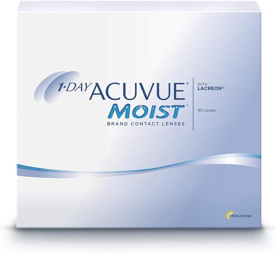 Lenti a contatto giornaliere acuvue 1-day moist - protezione uv - 90 lenti