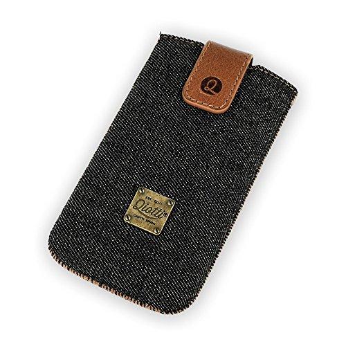 QIOTTI QX-P-0110-00-L Q.Pouch Denim Tasche (Größe: L) schwarz