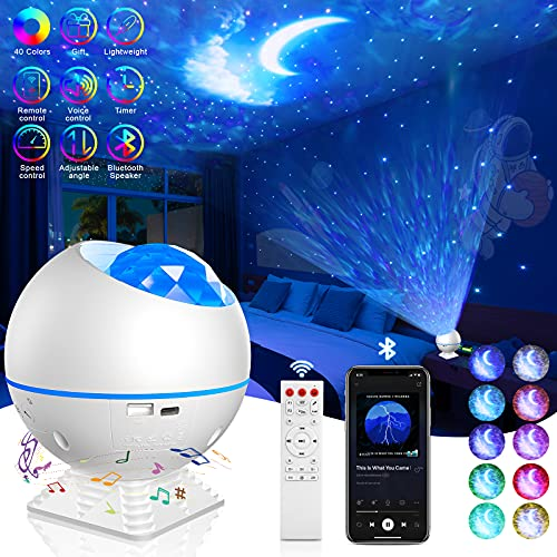 MUMUXI Galaxy Projector, Star Projector Night Light with Bluetooth Music Speaker, Starry Sky Light...
