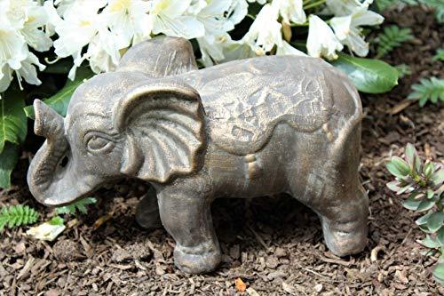 HOME HUT Garden decor elephant bronze effect indoor outdoor ornament statue animal figure