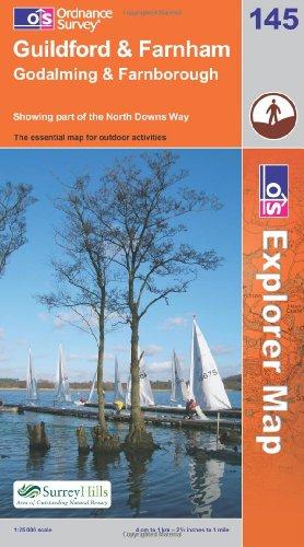OS Explorer map 145 : Guildford & Farnham