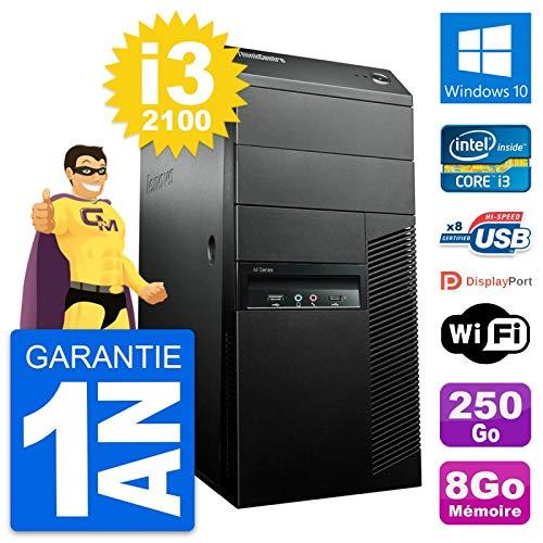 Lenovo PC Tower M91p Intel Core i3-2100 RAM 8gb Festplatte 250GB Windows 10 WiFi (Generalüberholt)