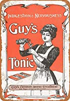 Guy's Tonic for Nervousness ティンサイン ポスター ン サイン プレート ブリキ看板 ホーム バーために
