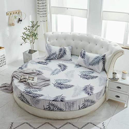 HPPSLT Protector de colchón, con Aloe Vera, (Todas Las Medidas) Faldón de Cama Redondo de algodón Redondo -6_2.2m
