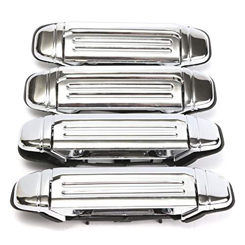 CHENTAO YAN Firm 4pcs Car Chrome Door Handle Reemplazo de reemplazo para Mitsubishi Pajero 1992 1993 1994 1995 1996 1997 Manera de Puerta Accesorios para automóviles